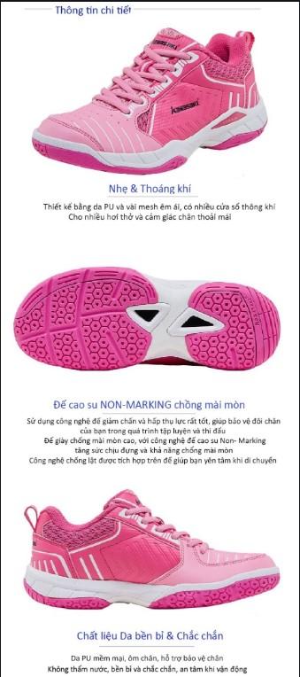 Giày cầu lông kawasaki K126 - 2020 Hồng